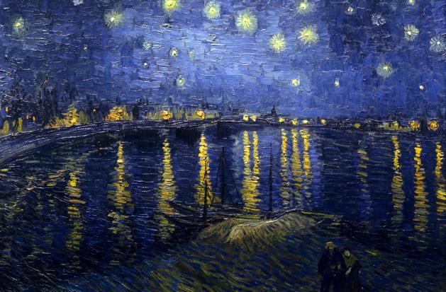 La noche estrellada sobre el Rodano - Vincent Van Gogh