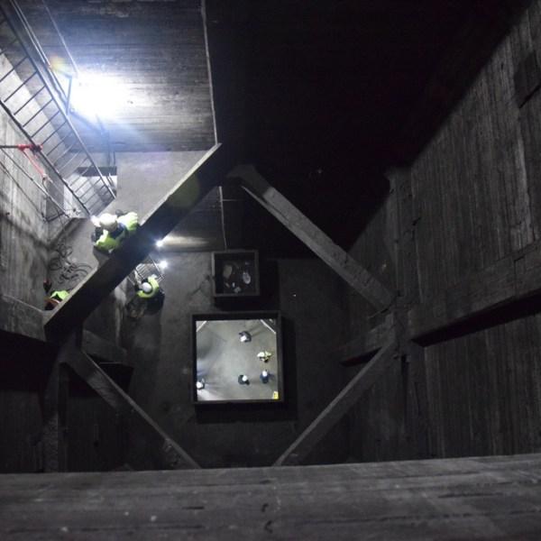 Mirando hacia abajo llegando a los 30 metros