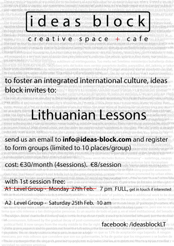Lithuanian lessons in Vilnius