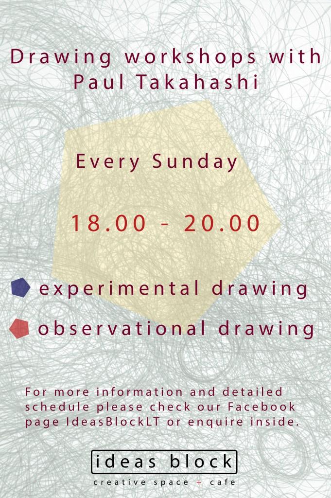 drawing workshops at ideas block LT