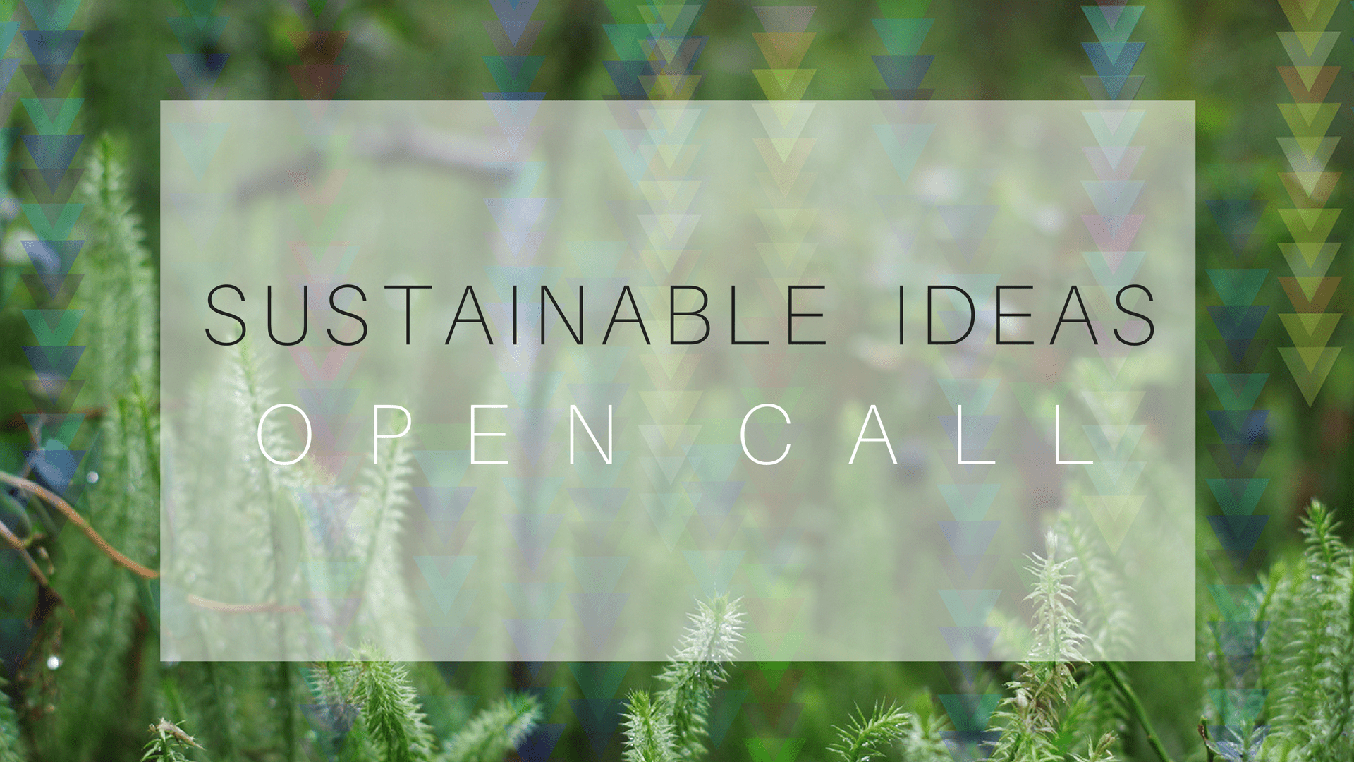 Sustainable Ideas open call