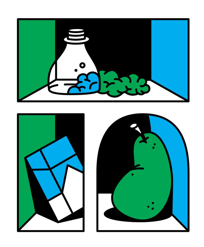 Tomas Rybar Shelves graphic artwork