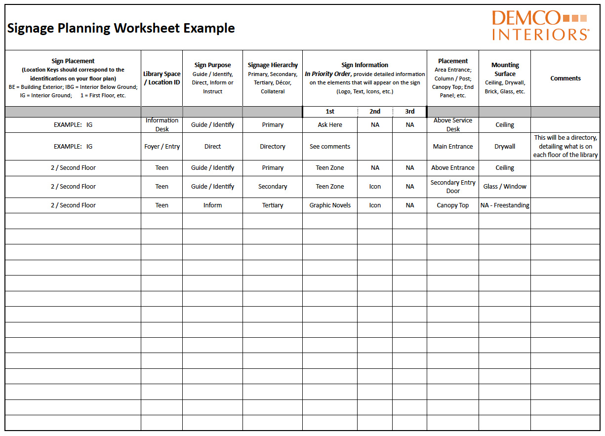 Observation Worksheet Example