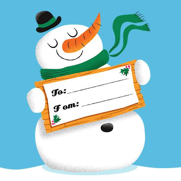 Free Printable Christmas Donation Gift Tags Hallmark