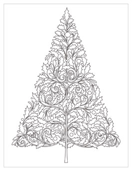 printable holiday coloring pages # 19