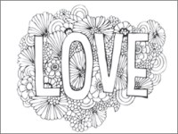 coloring pages printables for valentines day - Printable Valentines Day Coloring Pages