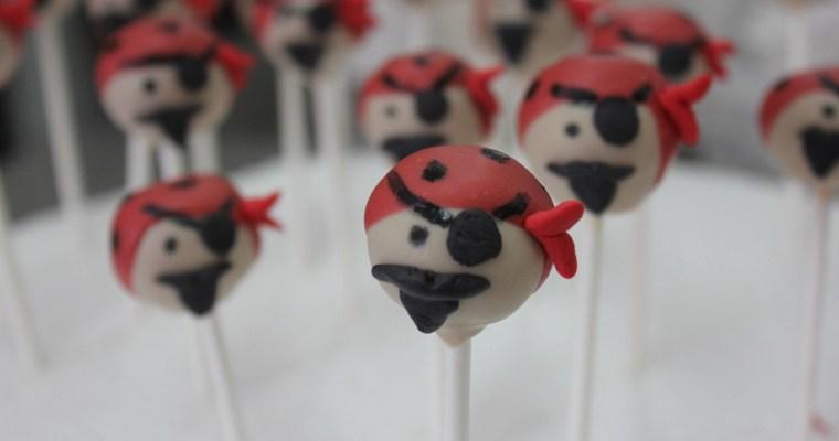 Cake pops o bizcoletas de piratas