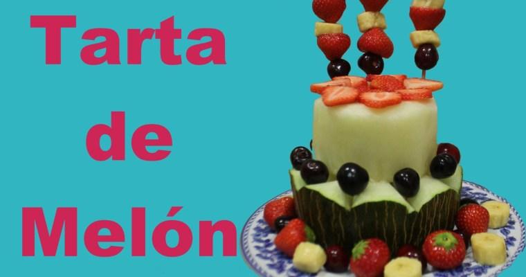 Tarta de frutas y melón. Postre veraniego