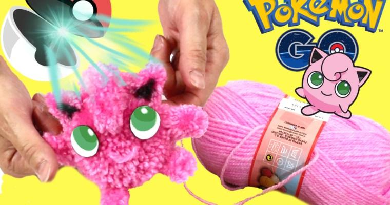 Muñeco Jigglypuff con super pompón y pompones múltiples