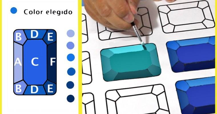 Como dibujar una gema en 3D