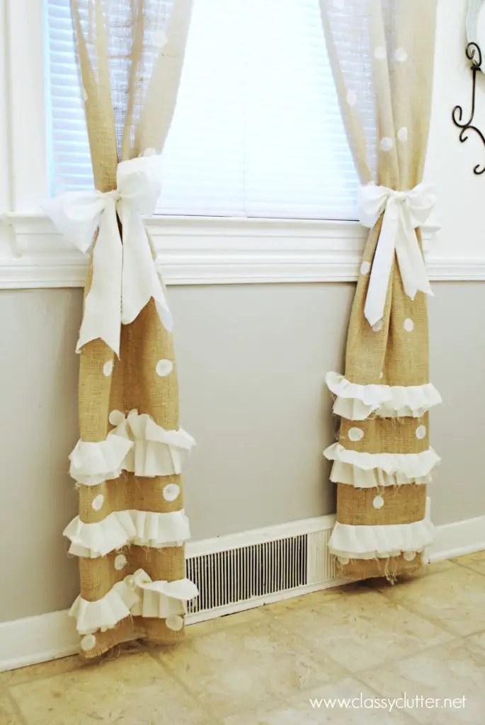 how to make diy burlap curtains ideas