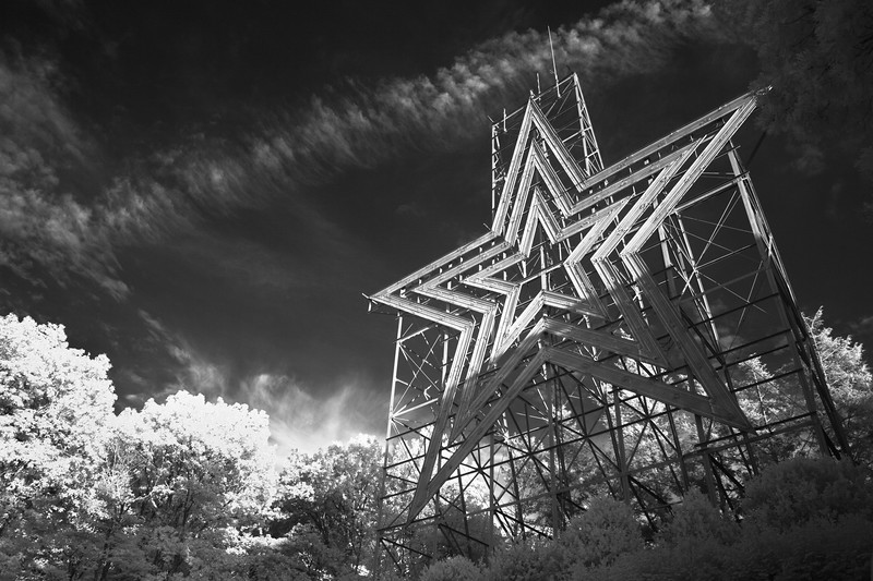 This Star is large metal star that over looks the town of Roanoke in Virgina USA.