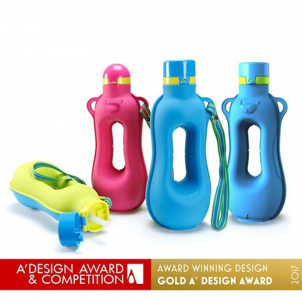 Happy Aquarius Workout Silicone Water Bottle.