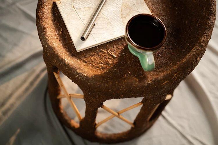 taburete hecho de arcilla