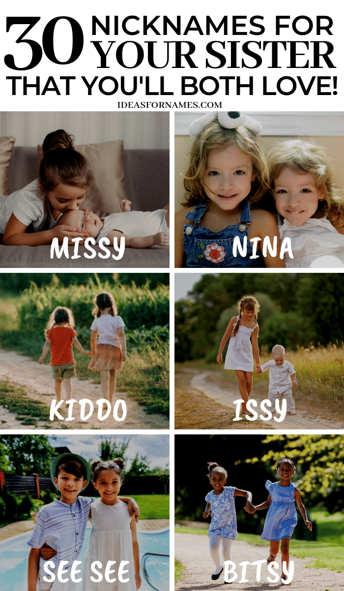 Alternative Nicknames That Are Perfect For Your Sister, other names for sis, #sister #sisterlove #nicknames #ilovemysister