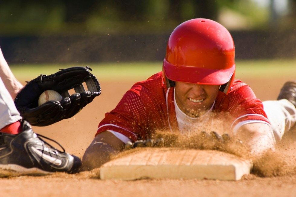Baseball And Softball Team Names That Hit It Out Of The Park, Player sliding stealing a base
