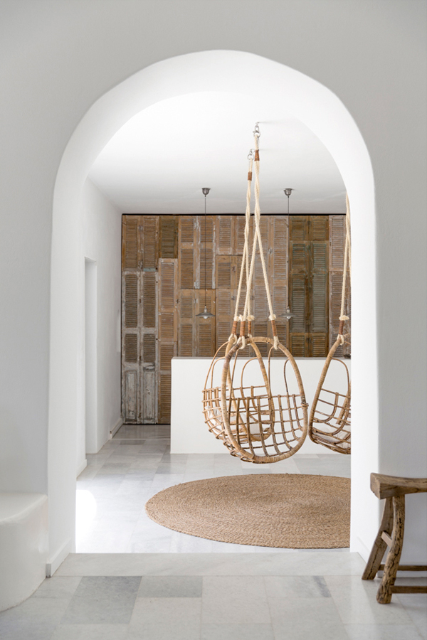 White Indoor Swing Hanging Chair Dream House