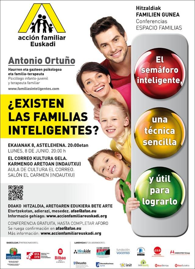 Cartel familias inteligentes en Bilbao