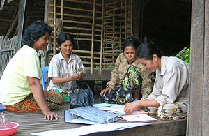 Community-based savings bank in Cambodia