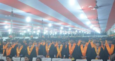 Students at the ceremony
