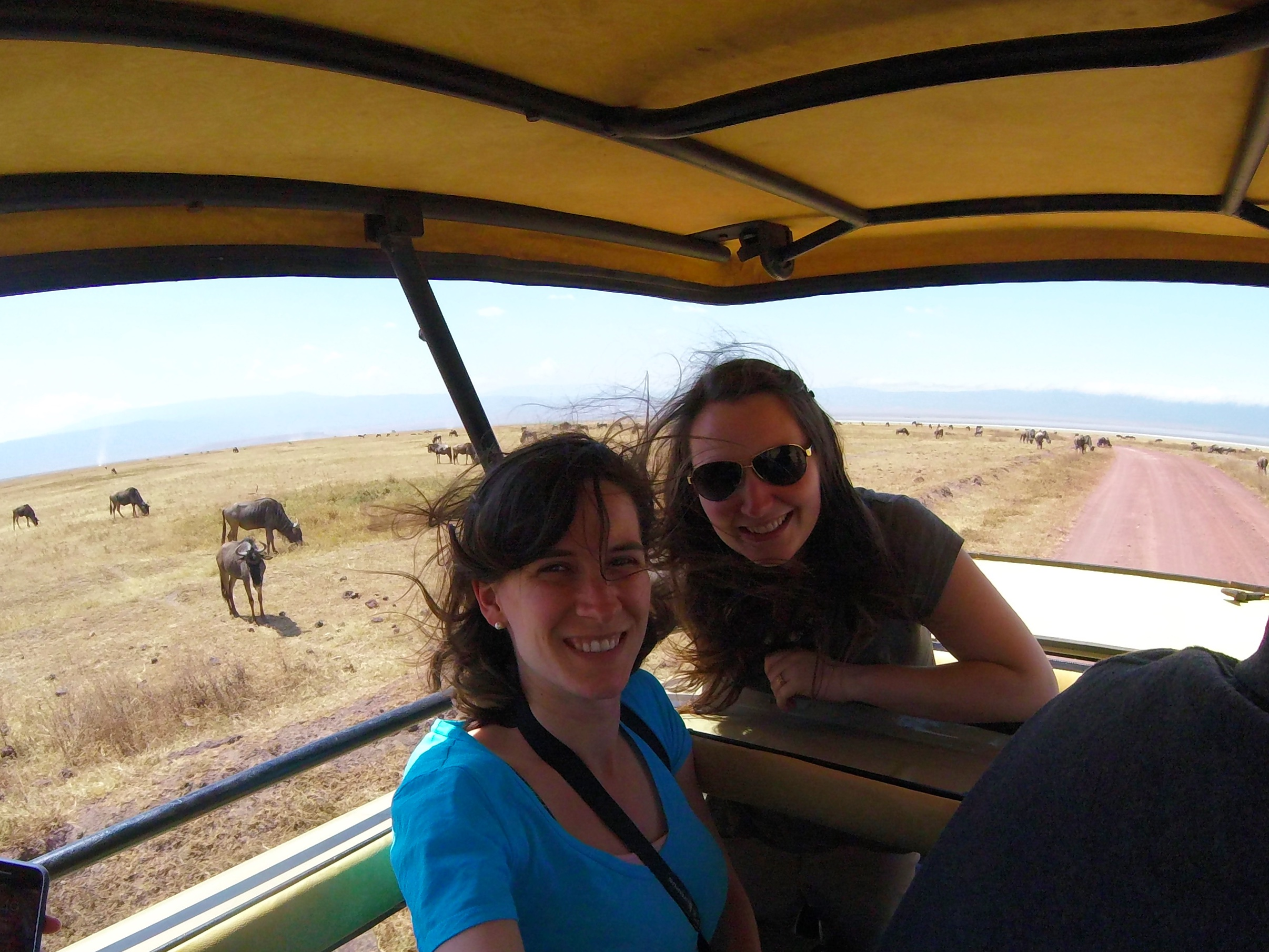 Me and Lilly in our pop-top safari jeep