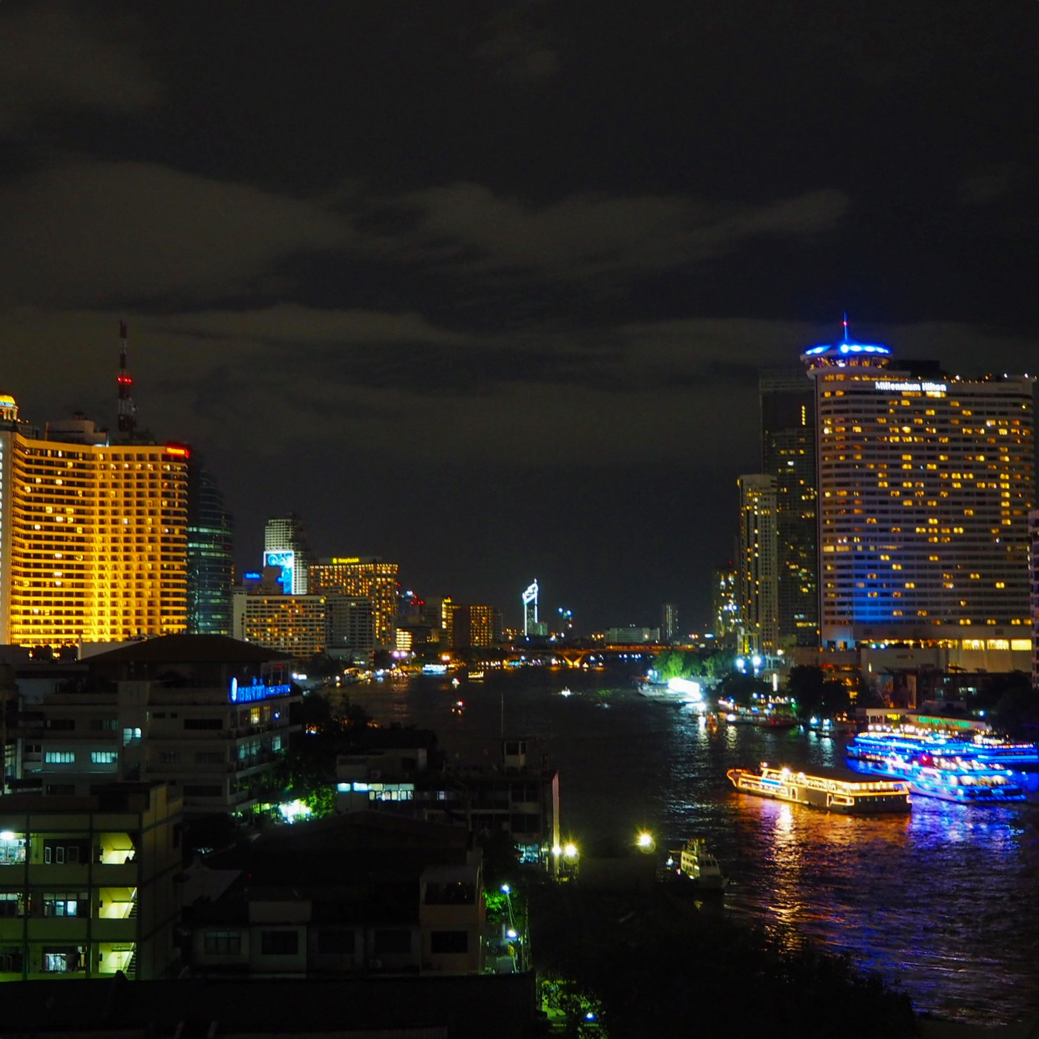 Rooftop view of the Chao Phraya River