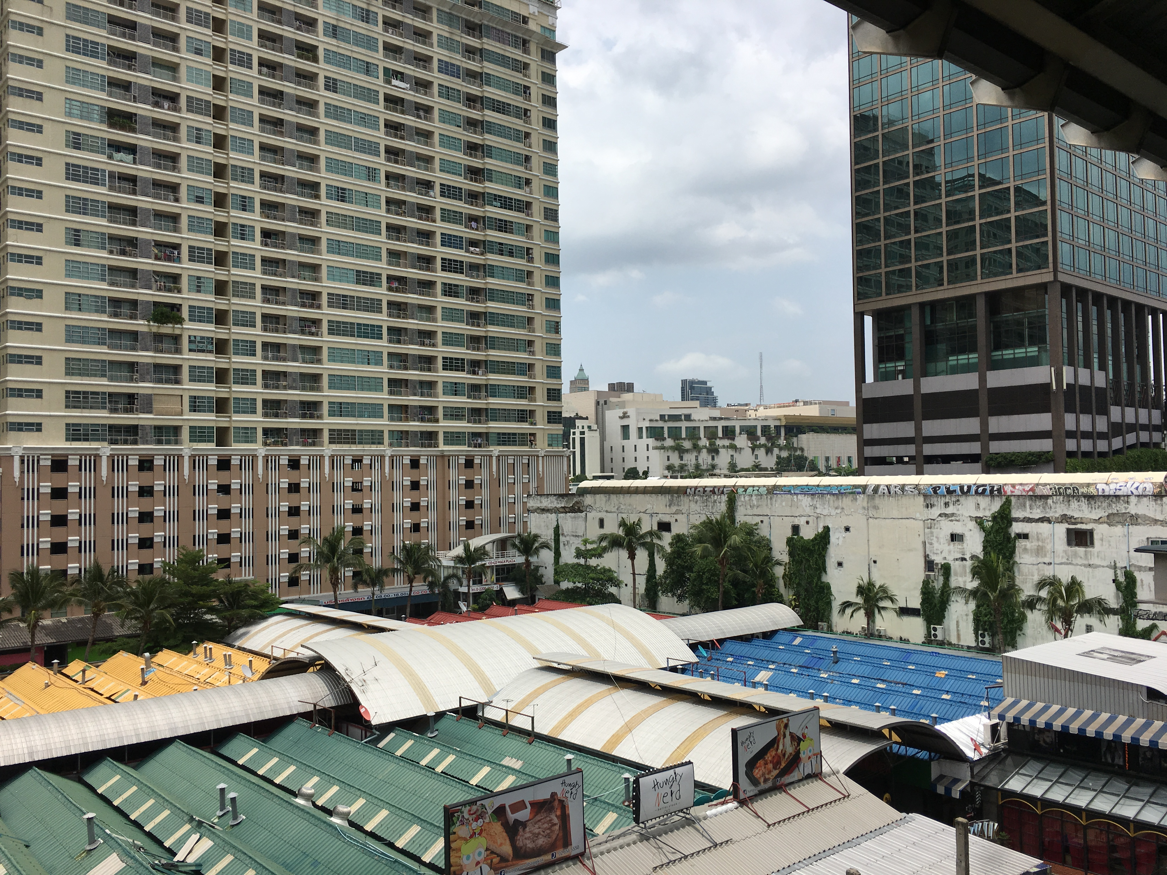 View from the Sky Train station by the electronics mall - Pretty much all we saw of Bangkok the first time
