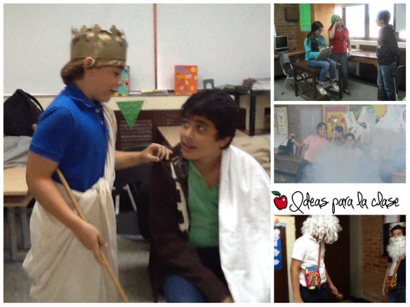 collage actuación de mitos