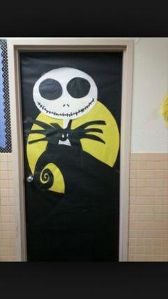 Halloween decoración puertas negro