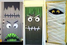 Halloween decoración puertas terror