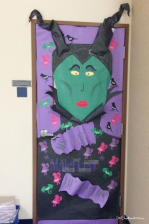 classroom-door-decorations-halloween-maleficent