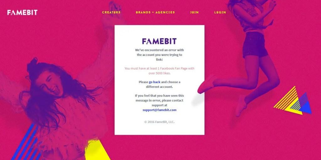 FameBit Number of Likes