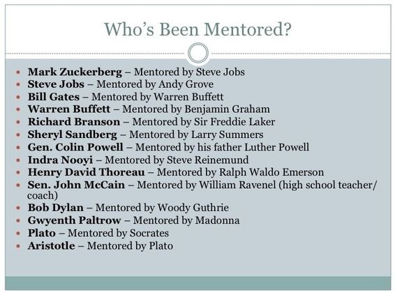 Who has been mentored