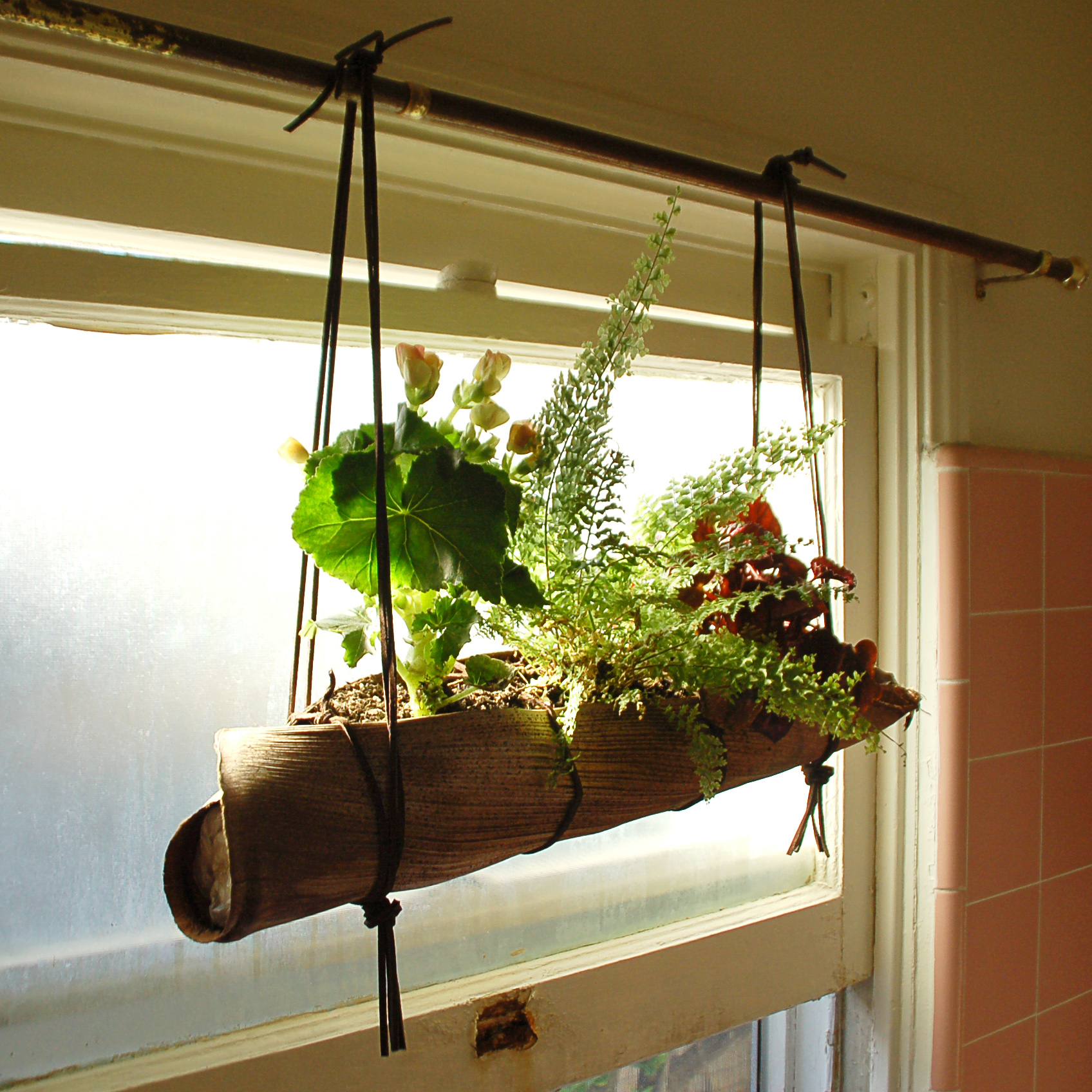 Palm Frond Hanging Planter | Ideas Realized on Hanging Plant Pots Indoor  id=59251