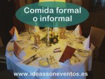 Comida Formal o Informal