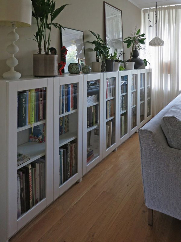 Bookcase And Long Low