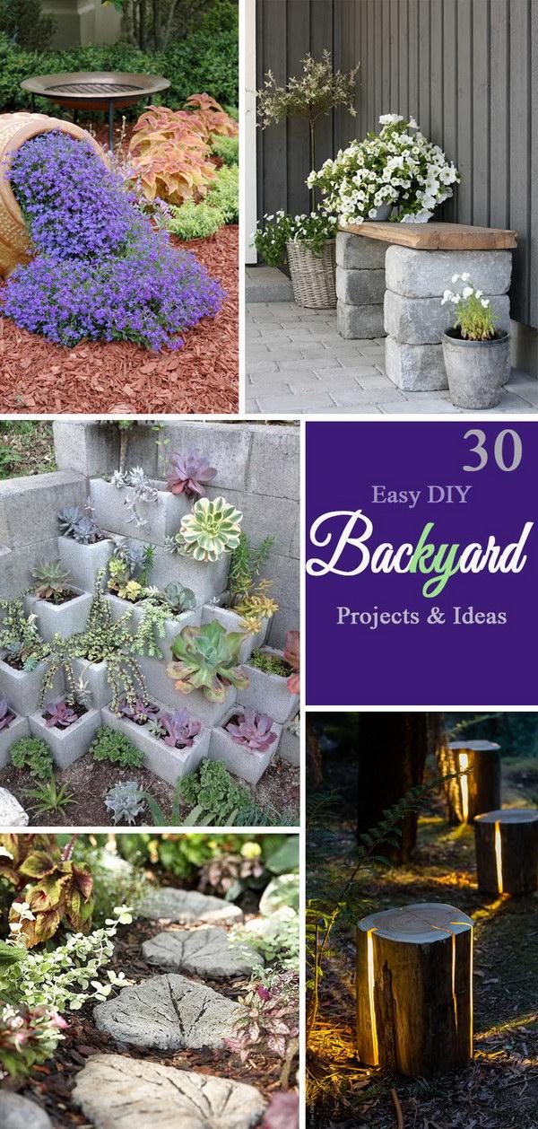 30 Easy DIY Backyard Projects & Ideas 2017 on Diy Back Patio Ideas id=76364