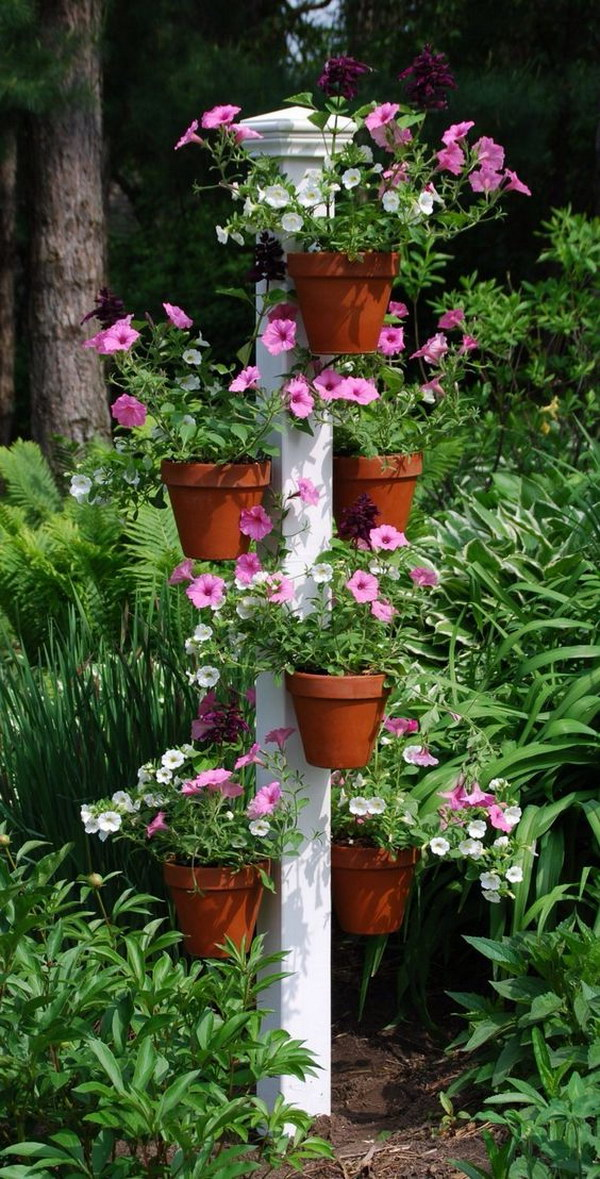 30+ Cool Indoor and Outdoor Vertical Garden Ideas 2017 on Hanging Plant Stand Ideas  id=48293