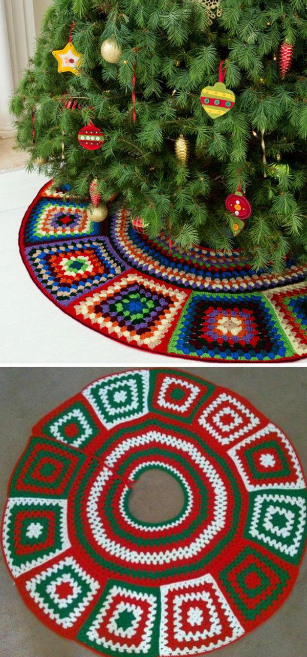 10 Crochet Christmas Tree Skirt Ideas 2017