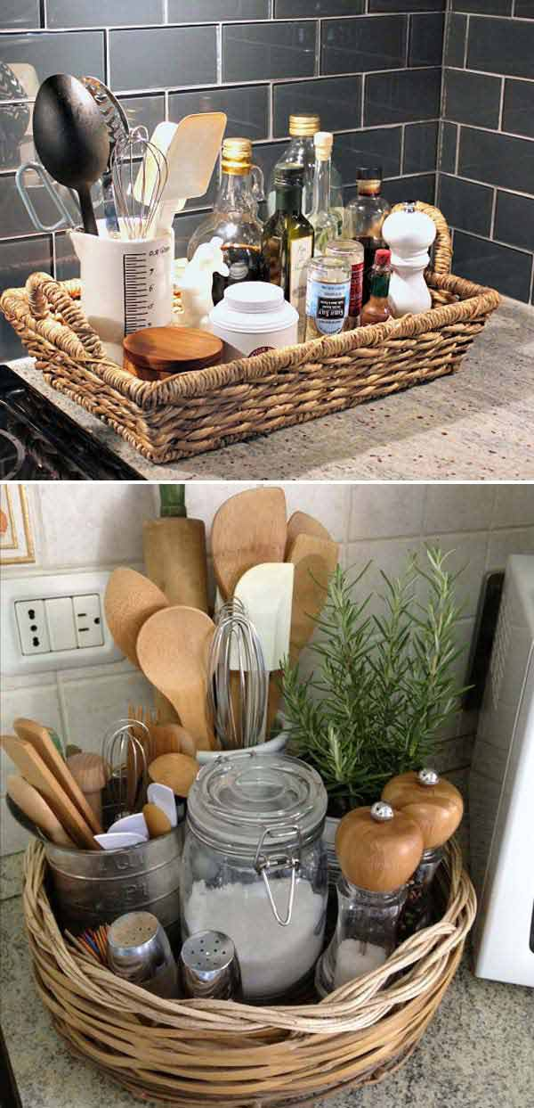 20+ Awesome Ideas To Keep Your Kitchen Countertops ... on Counter Decor  id=26276