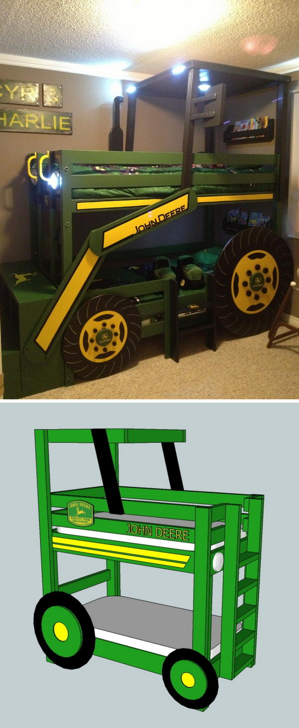 Tractor Toddler Bunk Beds.
