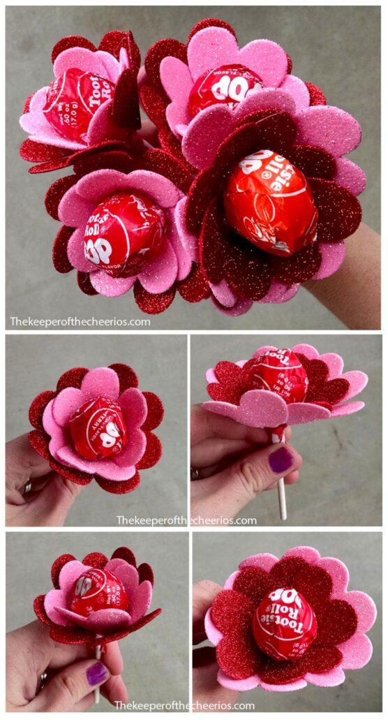 Heart sucker flower valentine