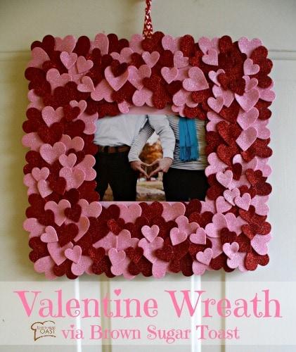 Valentine cardboard wreath