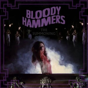 The pixelated cover of the Bloody Hammers release *The Summoning*