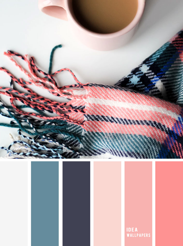 19 The Perfect Pink Color Combinations { pink + salmon + dark blue } color scheme,color palette , colors
