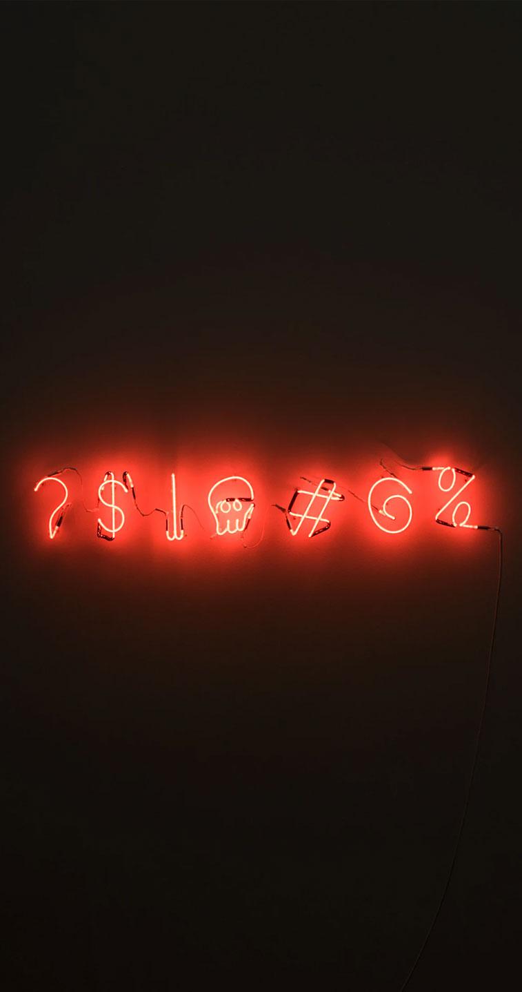 Sign neon light iPhone wallpaper, orange neon light iphone wallpapers, iphone background #iphone #background