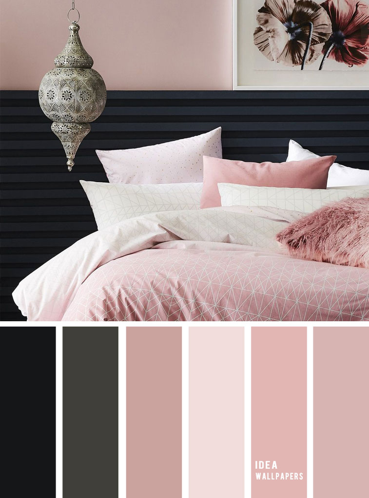 10 Best Color Schemes for Your Bedroom { Black + Dark Grey + Blush }, blush color palette, colour palette #color #colorpalette