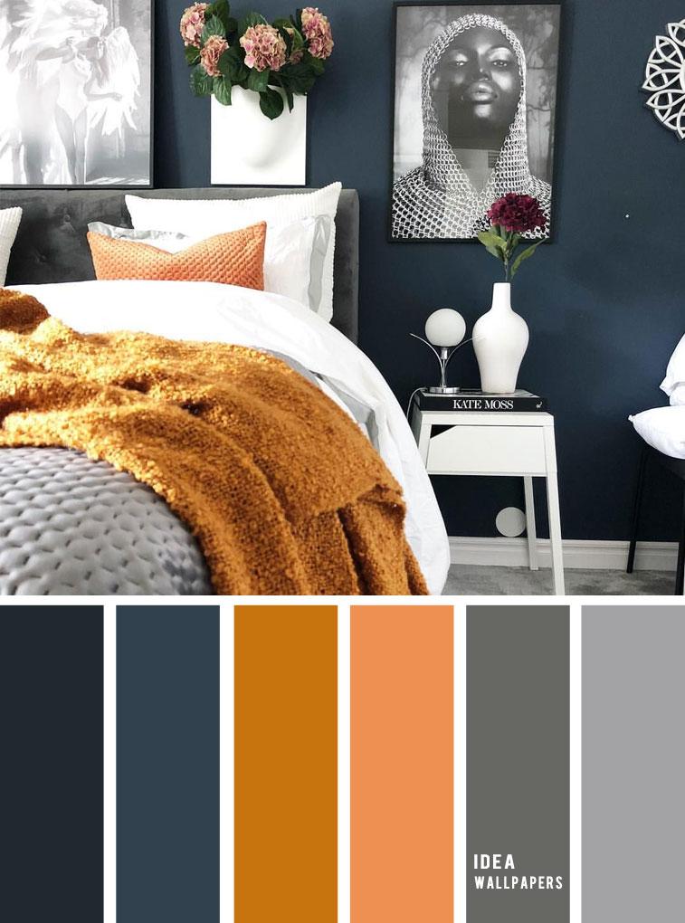 10 Best Color Schemes For Your Bedroom Navy Blue Golden