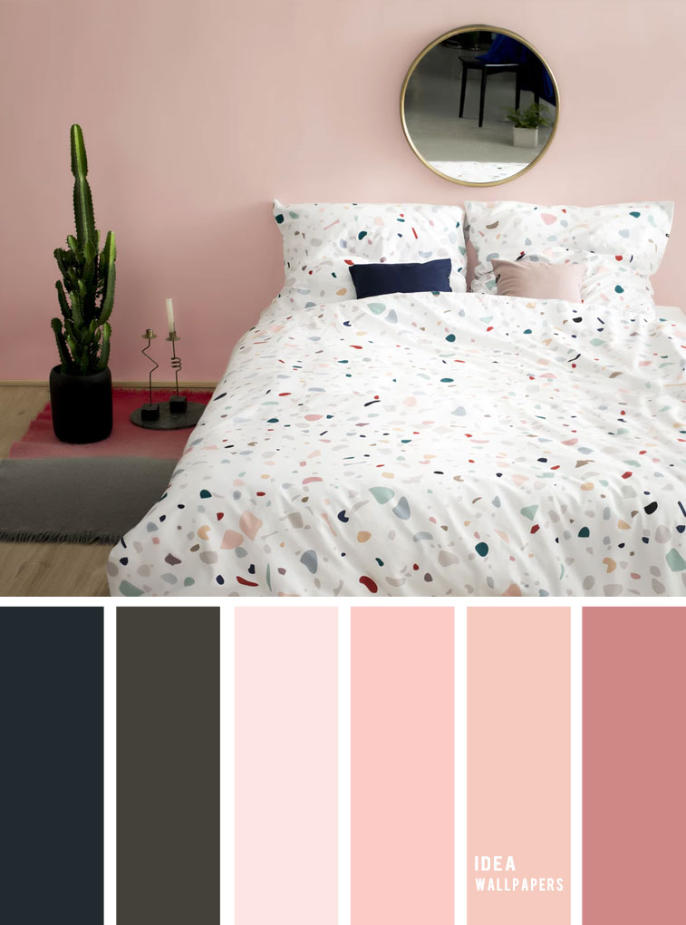 10 Best Color Schemes for Your Bedroom { Navy blue + Dark Grey + Blush }, blush color palette, colour palette #color #colorpalette