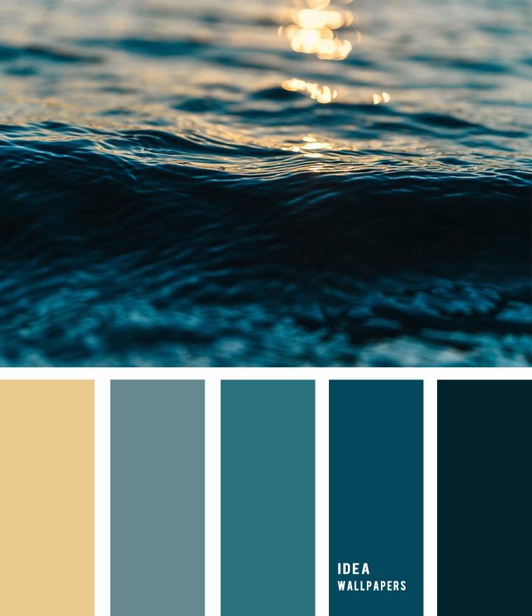 Deep Blue Sea Color Palette, color palette , winter color palette, deep blue sea , , grey color palette #pantone #color #beach